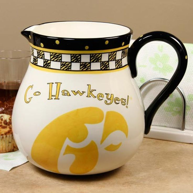Iowa Hawkeyes Game Day Ceramic Pitcher