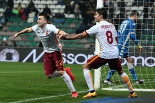 Roma vence Sassuolo na abertura da 23ª rodada do Campeonato Italiano