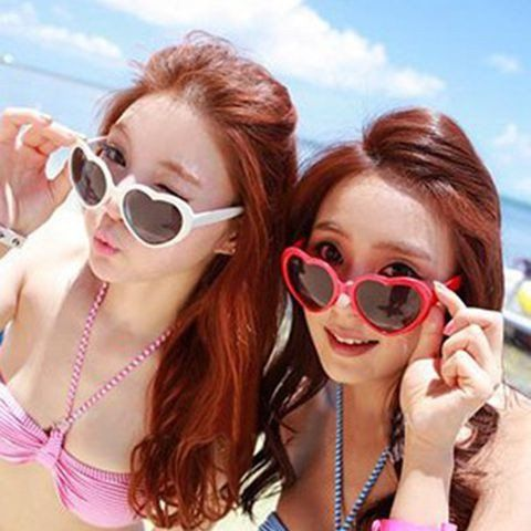 Heart Shaped Sunglasses for Girls, Teens, and Young Adults