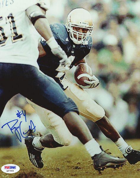 Ryan Grant Autographed 8x10 Photo Notre Dame PSA/DNA #Q97964