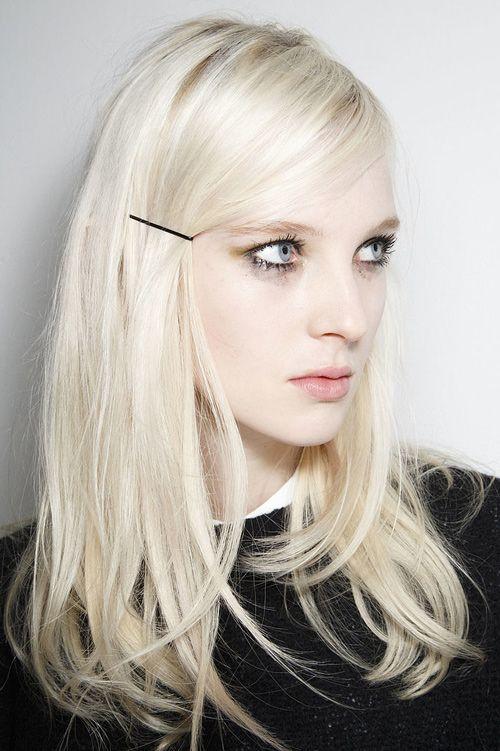white blonde - pefect match for our matte black bobbi pins!