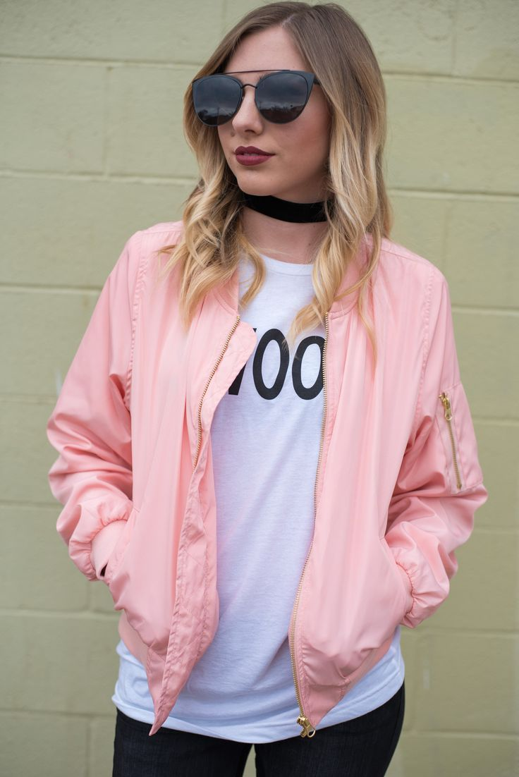 Best 25  Pink bomber jacket ideas on Pinterest | Pink bomber, Pink ...