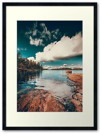 'Belle Svezia' Framed Print by HappyMelvin. #nature #landscape #wanderlust #wallart #framedprint #print