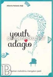 Youth Adagio   Toko Buku Online PengenBuku.NET   Alberta Natasia Adji   Kana Hyuuga; seorang gadis SMU biasa, tengah berjuang dalam kompetisi musik yang diadakan oleh sekolahnya. Telah puluhan kali gagal dalam kompetisi manapun, kembali mengalami kegagalan saat saingan terberatnya di sekolah, seorang putri konglomerat bernama Hino Yamada, lagi-lagi berhasil mengalahkannya dengan telak.  Rp42,500 / Rp36,125 (15% Off)