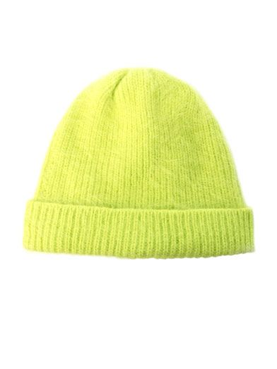 Great Color +Hello Hats, Kits Angora, Acne Kits, Bright Green, Green Knits, Fashion Dreamland, Knit Hats, Angora Ribs, Knits Hats