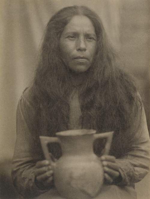 Attributed to Doris Ulmann, photographer (American, 1882 - 1934) Cherokee Woman, North Carolina, about 1929, Platinum print Image: 20.2 x 12.7 cm (8 x 5 in.) The J. Paul Getty Museum, Los Angeles