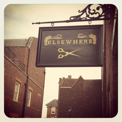 Zoë Alder, a reader from the UK, wrote me today to say she had named her brand new salon for my book, Elsewhere! How picturesque is that sign? Anyhow, if you're in the Oxford area, please go and take a picture for me. And get your hair cut, too