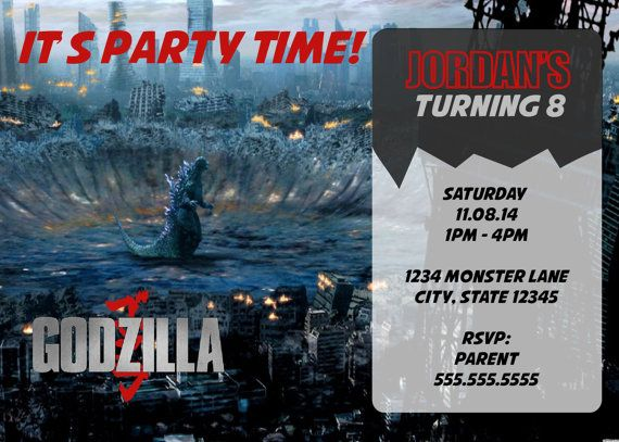 92 Best Devan Godzilla Party Images On Pinterest Kid Birthdays