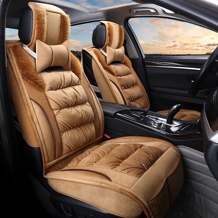 High Quality General Car Seat Cover Imitation Fox Fur Warm Flocking Fabric Mats Plush Car Seat Cushion Winter Mats, Car Styling