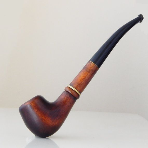 Wooden Tobacco Pipe FINNIC Tobacco gift Smoking bowl Handmade pipe Carving Long tobacco pipe CHURCHWARDEN Designed for pipe smokers Wood
