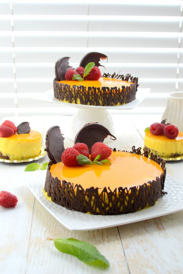 Mango Mousse Cake | 37 Delicious Ways To Eat More Mango This Summer (for chloe <3)