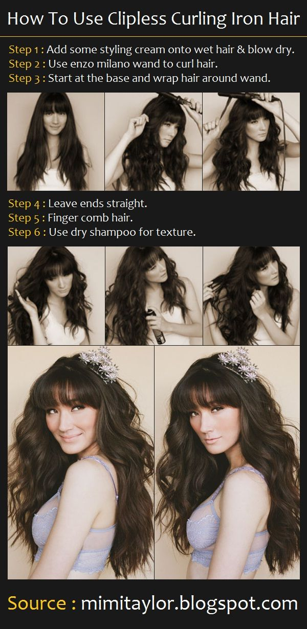 How To Use Clipless Curling Iron Hair | Pinterest Tutorials