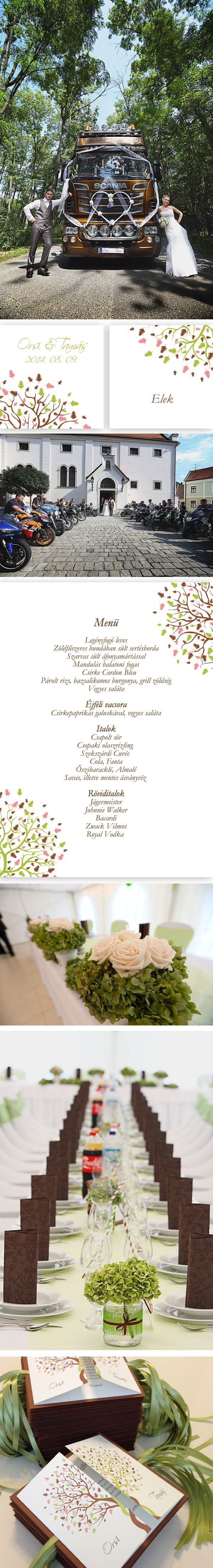 Brown-green-pink wedding - Barna-zöld-rózsaszín esküvő Graphics/Grafikák: Wedding Design