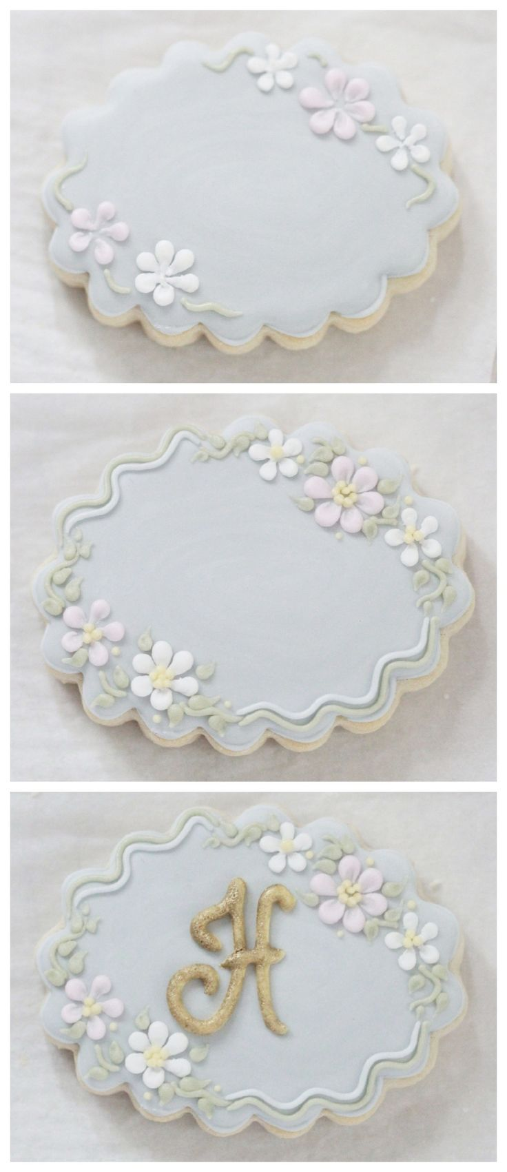 Decorating Monogram Cookie Steps