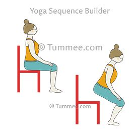 easy pose chair to chair pose flow yoga sukhasana chair