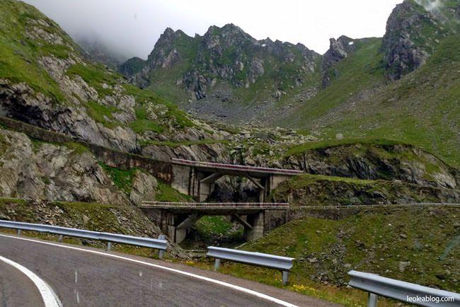 Trasa Transfogarska - Rumunia Transfăgărășan Transfogaras Road - Romania