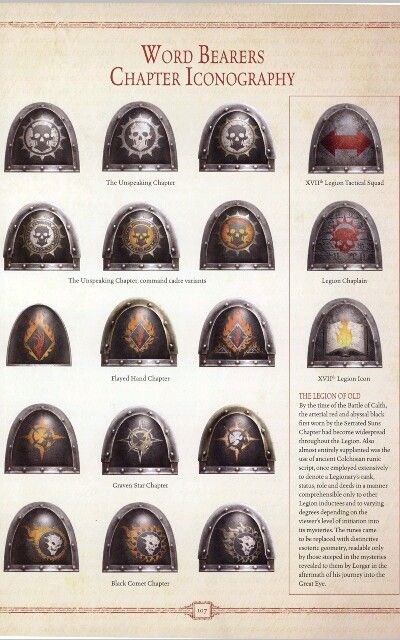 Word bearer chapter iconography | The Hammer | Pinterest ...