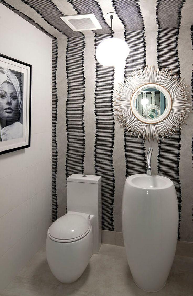 Des toilettes à la déco originale pour un appartement design très moderne
