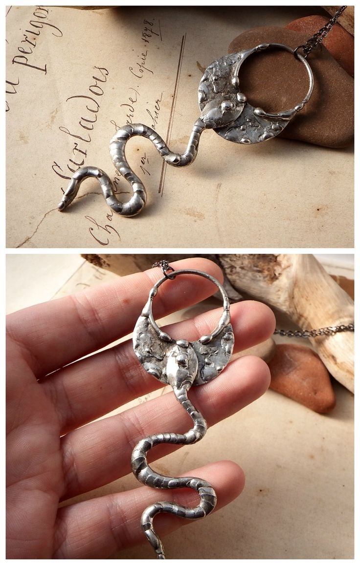 Snake pendant by Alice Savage. Handmade magical, powerful, artisan jewelry. Witch, pagan, mystic, bohemian, festival