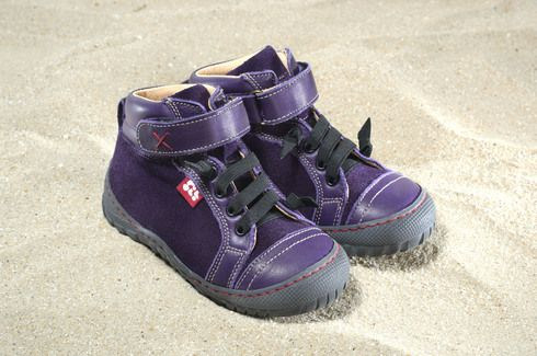 "POLOLO Maxi Terra aubergine 100% eco leather, your choice of ""fake shoe laces"" as pictured or real shoe laces"