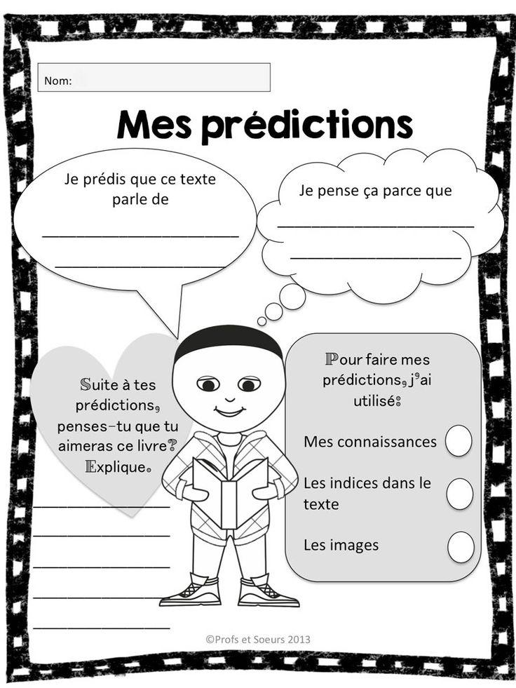 Mes prédictions: compréhension de lecture