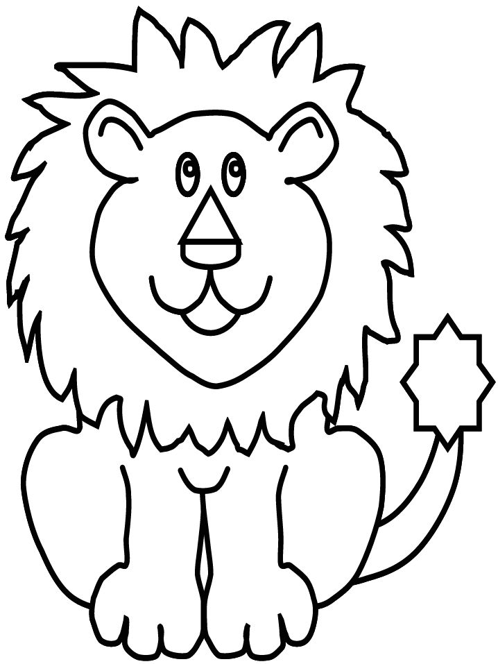 Coloring Pages Animals Lion Printable Sheet Wallpaper