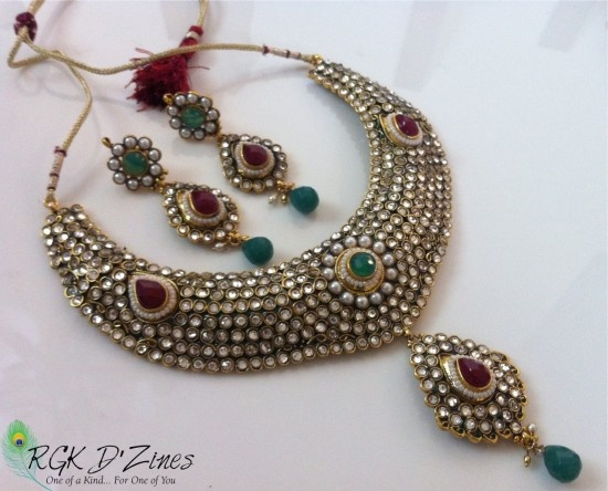 32 best necklace images on pinterest indian bridal for Indian jewelry queens ny