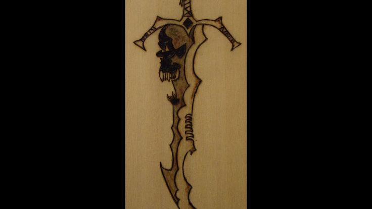 Pyrography : How to draw a Sword.