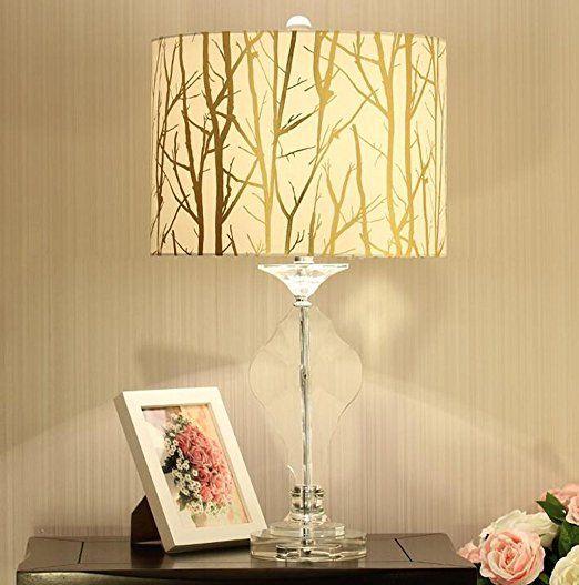 lampada da comodino caldo moderno creativo continentale maestro della moda minimalista americano camera da letto lampada decorativa da tavolo in cristallo lampada della stanza della lampadaC ( dimensioni : 35*64cm )