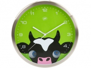 Zegar ścienny J.I.P Peekaboo krówka  http://www.citihome.pl/zegar-scienny-j-i-p-peekaboo-krowka.html