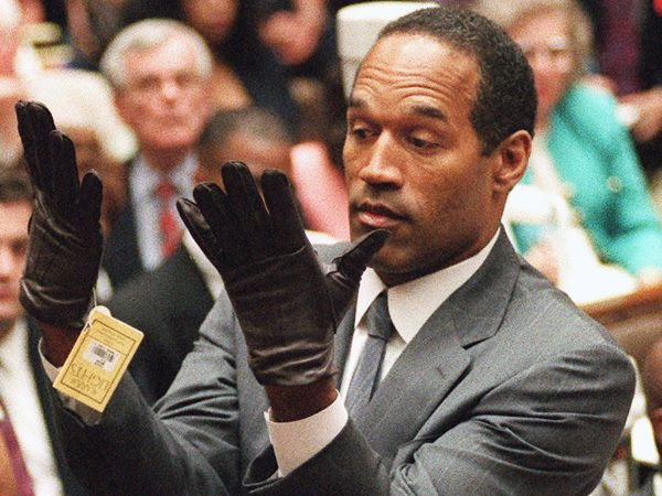 In 1994, NFL legend O.J. Simpson was charged with two counts of murder in the stabbing deaths of his ex-wife Nicole Brown Simpson and her friend Ron Goldman. The jury returned a not guilty verdict, after less than four hours of deliberations.  --  http://www.nbclosangeles.com/news/local/OJ-Simpson-Case-Trial-of-the-Century-20-Years-Later-262573111.html