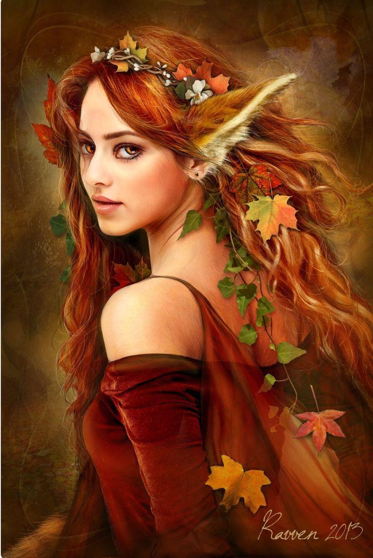 El Hada del Otoño...Me encuentras en los otoñales bosques....Pertenezco a los seres elementales: hadas, duendes, gnomos etc. Algunos me ven, otros no....
