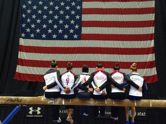 Amelia, Maggie, Simone, Kyla, Felicia and Ashton--2014 P&G Championships day one