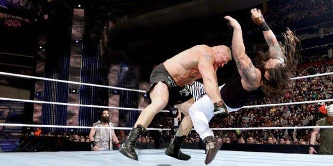 WWE 2016 Brock Lesnar Returns  attack the wyatt family