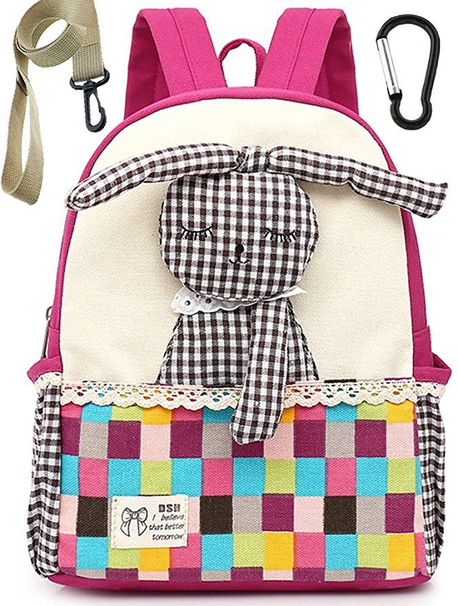 e12dd77ae101 AmazonSmile: Children Toddler Backpack Preschool Safety Harness Rabbit  Bunny for Girls(Pink):