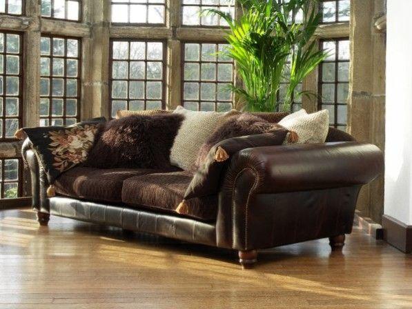Sectional Sofa Tetrad mixed leather u fabric sofas at Harvest Moon Also Tetrad sofas leather sofas fixed cover sofas loose cover sofas corner group sofas u Tetrad