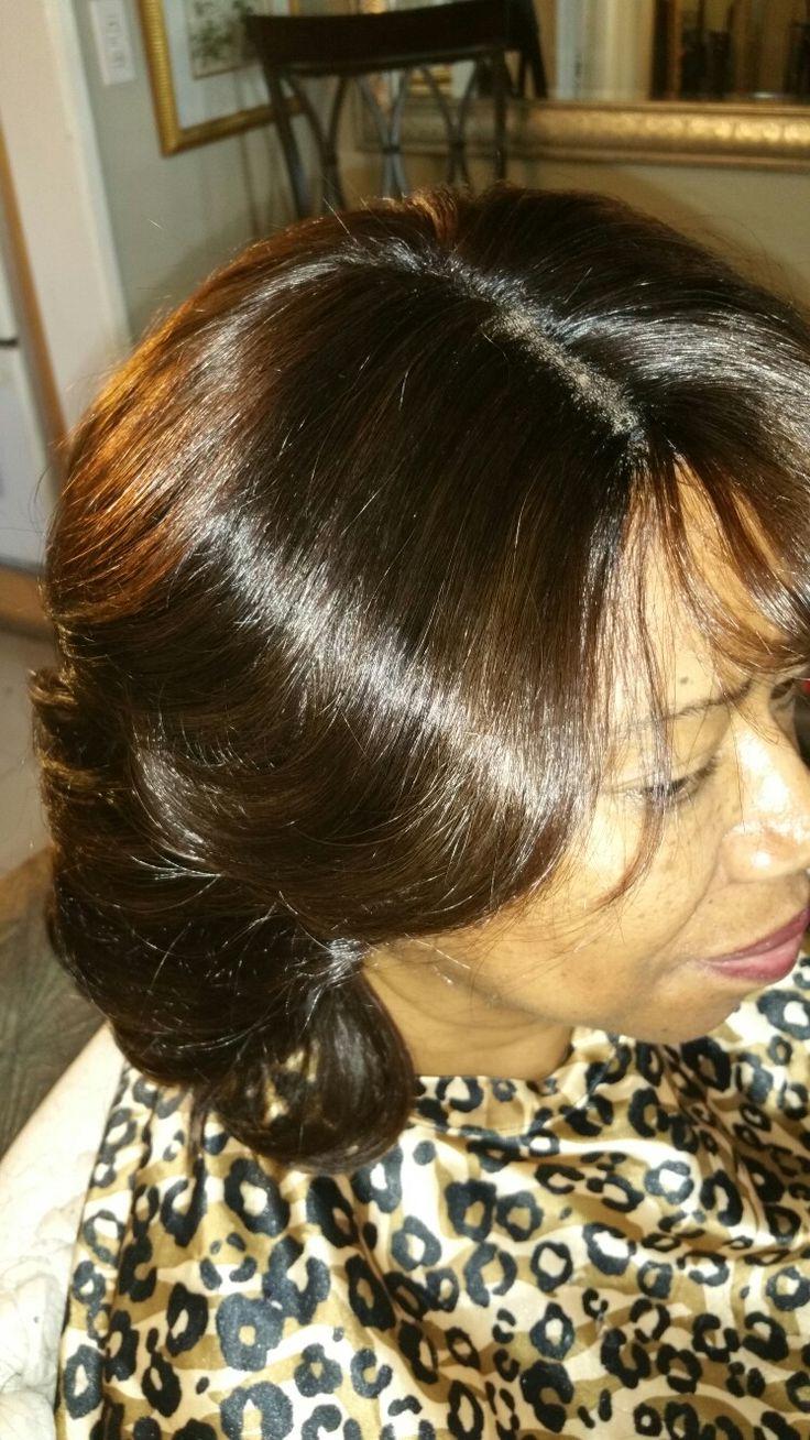 Full weave Italian human hair,frontal custom color ..818 613 8449