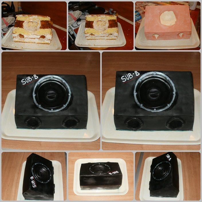 Subwoofer cake - Mélynyomó torta