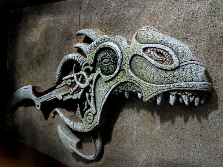 rolyef tabalkon sanat evi relief dragon kazıma wall plaque fantasy stone art