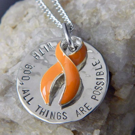 I totally want this . . . hint, hint! With God All Things are Possible MS Awareness by WireNWhimsy, $32.00