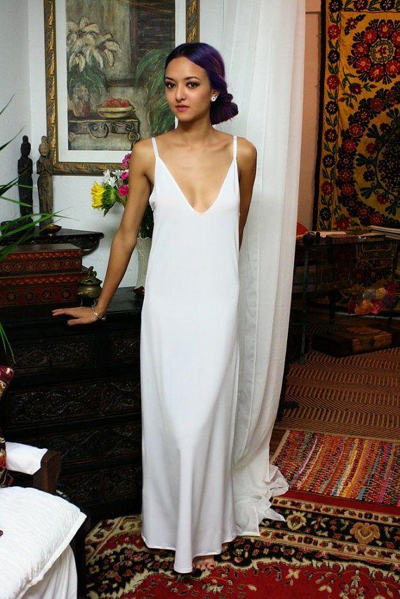 Formal Length Slip White Slip Black Slip Ivory by SarafinaDreams