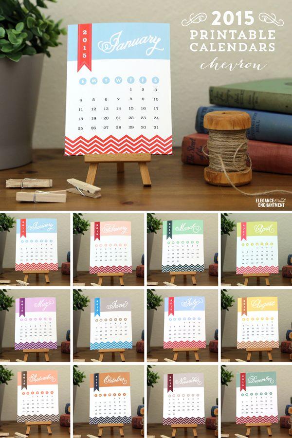 2015 Desk Calendar Printables – Vote for your favorite