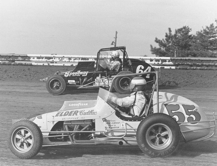 Vintage USAC racing cars.