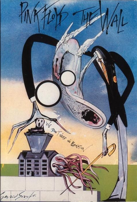 The Wall  Gerald Scarfe  Illustration for the The Wall by Pink Floyd