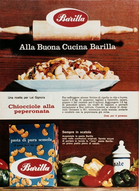 This 1964 ad includes a recipe for four.
