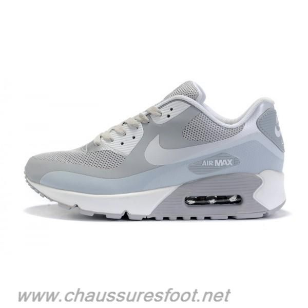 Nike Air Max Shoes Nike Air Max 90 Hyperfuse Light Grey Silver [Nike Air  Max 90 Hyperfuse - Lightweight and breathable Hyperfuse material enables  the Nike ...