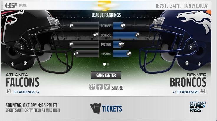 Falcons vs Broncos Live Stream