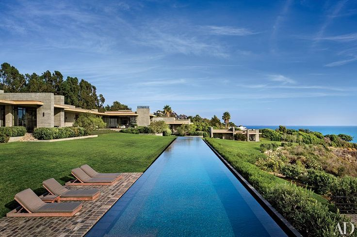 A 168-foot swimming pool runs parallel to the Pacific at the Malibu home of real-estate powerhouse Kurt Rappaport.