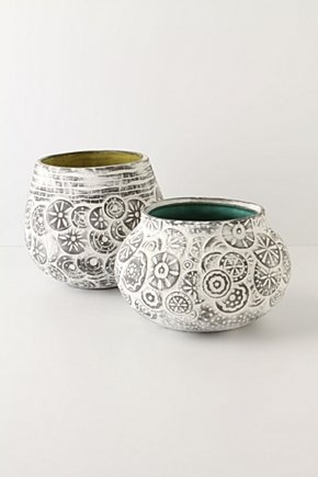I could see these on the window sill with herbs or succulents      #pottery #planter  #ceramics