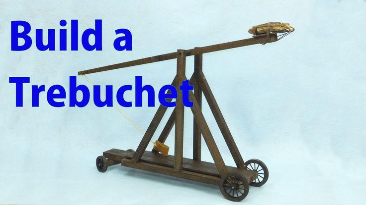 Building a Model Wood Trebuchet.